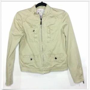 Tommy Hilfiger Full Zip Up Utility Jacket Khaki Sm